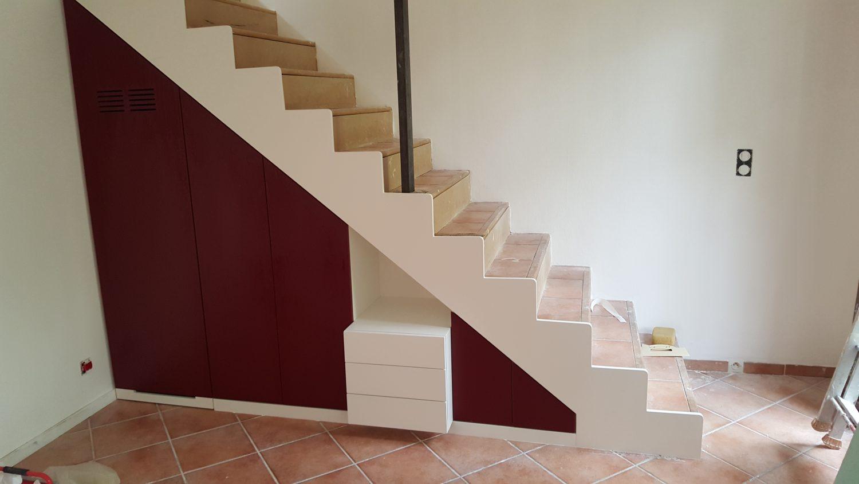 Agencement combles et sous escalier alliance int rior beniste menuisier - Agencement sous escalier ...